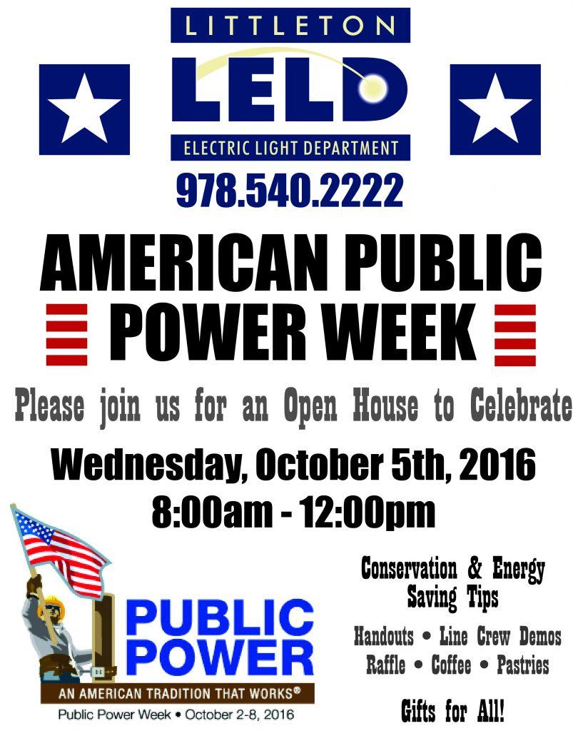 Public Power Week Littleton Electric Light Amp Water